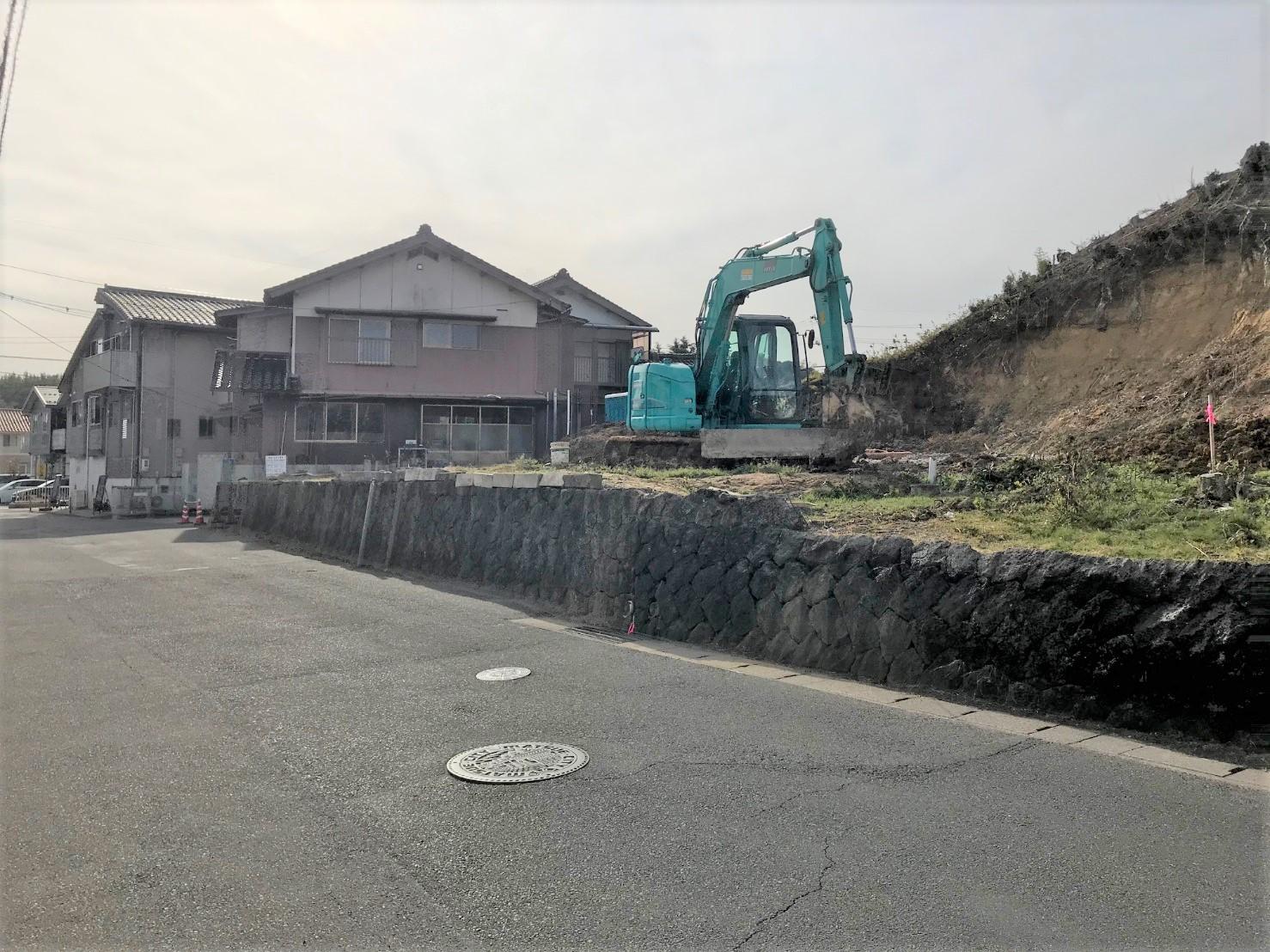 松江市黒田町売土地(造成中)